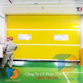 Cửa tốc độ cao PVC nhà máy của Nhật tại KCM amata